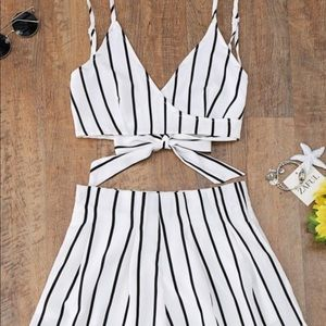 Striped two piece (never worn)